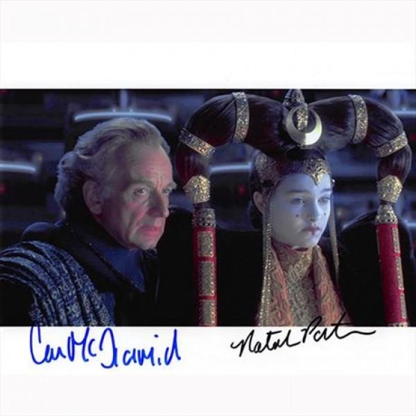 Autografo Natalie Portman & Ian McDiarmid - Star Wars Foto 20x25