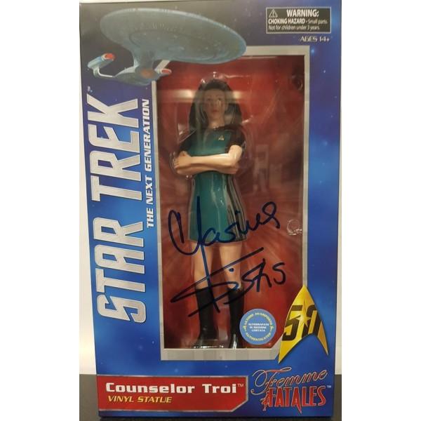 Star Trek The Next Generation  PVC Statue Counselor Troi Autografato