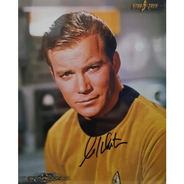 Autografo William Shatner Star Trek 3 Foto 20x25