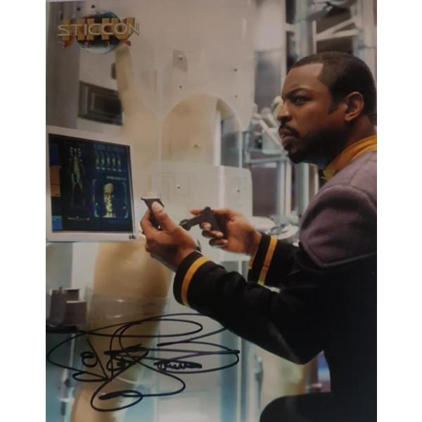 Autografo LeVar Burton Star Trek 4 Foto 20X25