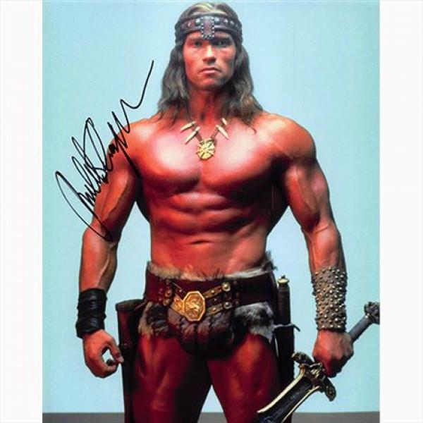 Autografo Arnold Schwarzenegger - Conan the Barbarian  Foto 20x25
