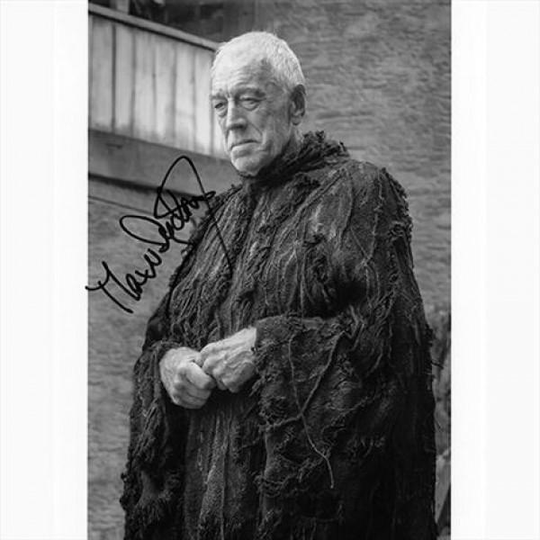 Autografo Max von Sydow - Game of Thrones Foto 20x25