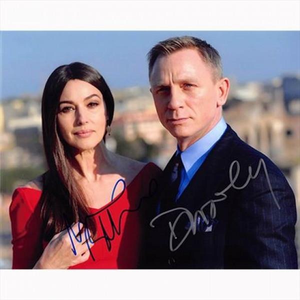 Autografo Daniel Craig & Monica Bellucci -007 James Bond Foto 20x25