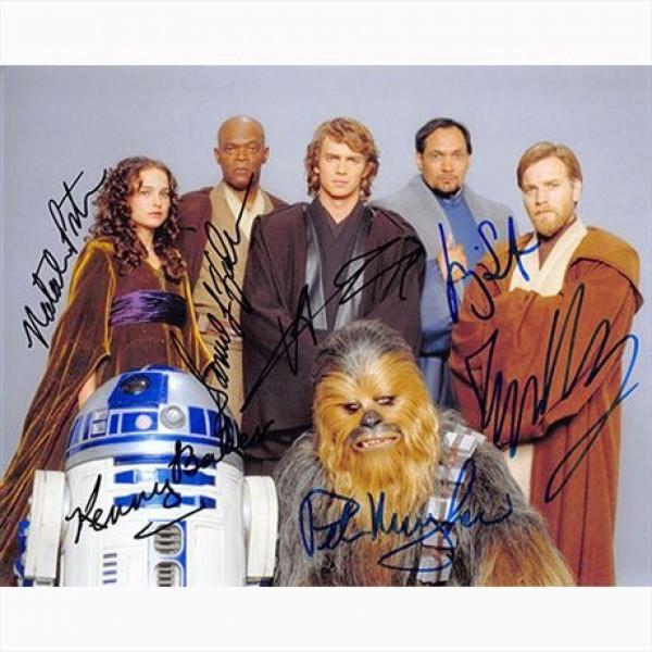 Autografo Star Wars Revenge of the Sith Cast  6 Actors Foto 20x25:
