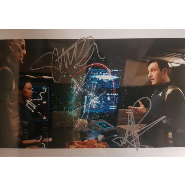 Autografo Sonequa Martin-Green & Jason Isaacs - Star Trek Discovery Foto 20x25