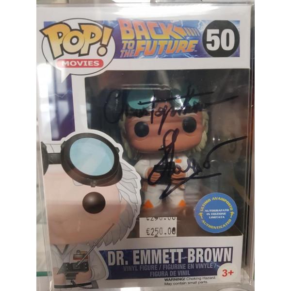 Autografo Christopher LLoyd Funko Pop! Dr. Emmett Brown Ritorno al Futuro #50