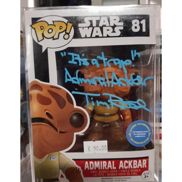 Autografo Tim Rose Fuonko Pop! Admiral Ackbar #81