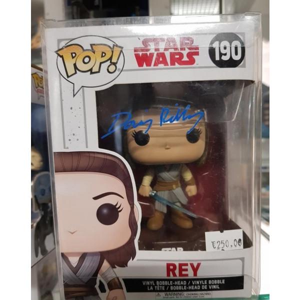 Autografo Funko Pop!  Daisy Ridley Star Wars Ray #190