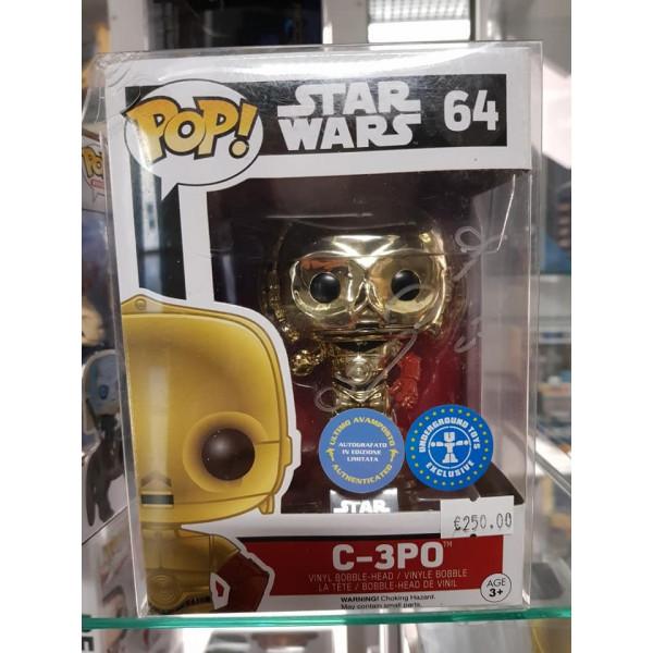 Autografo Anthony Daniels Funko Pop! 2 Star Wars C-3PO #64