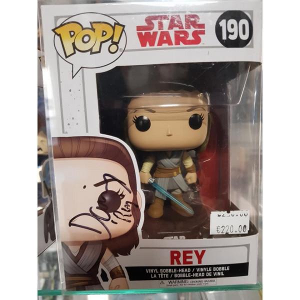Autografo Funko Pop!  Daisy Ridley 2 Star Wars Ray #190: