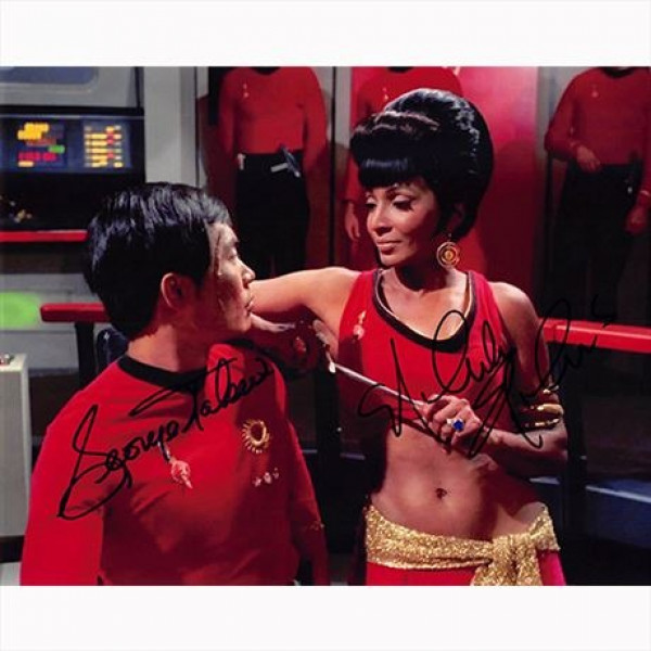 Autografo George Takei & Nichelle Nichols - Star Trek Foto 20x25