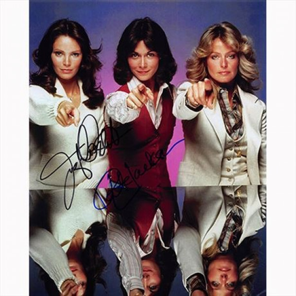 Autografo Jaclyn Smith & Kate Jackson - Charlie's Angels Foto 20x25