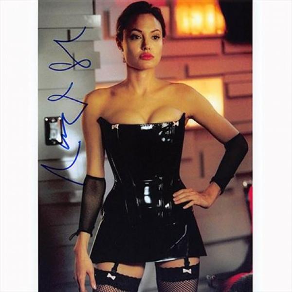 Autografo Angelina Jolie - Mr. & Mrs. Smith Foto 20x25