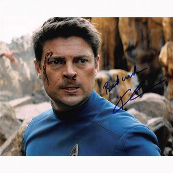 Autografo Karl Urban -2- Star Trek foto 20x25