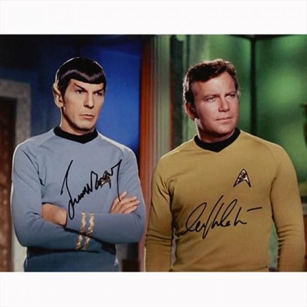 Autografo William Shatner - Leonard Nimoy - Star Trek Foto 28x35