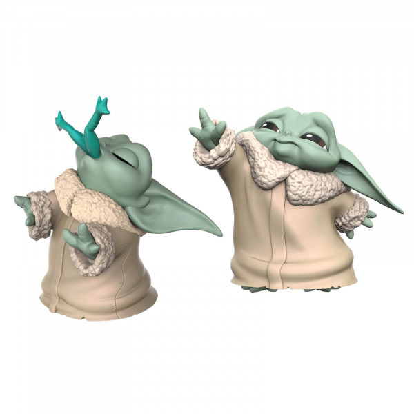 "Hasbro Star Wars: The Mandalorian Baby Bounties ""Frog and Force"" Mini Figures Set 2 pezzi"