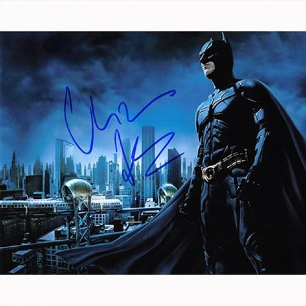 Autografo Christian Bale - Batman The Dark Knight Foto 20x25