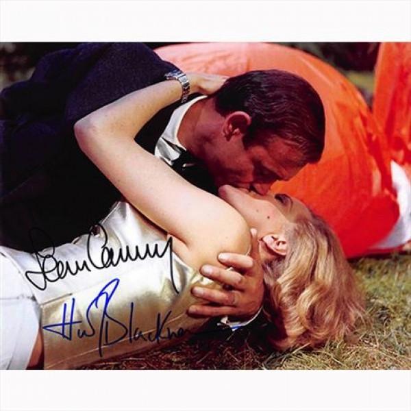Autografo Sean Connery & Honor Blackman - 007 James Bond Foto 20x25