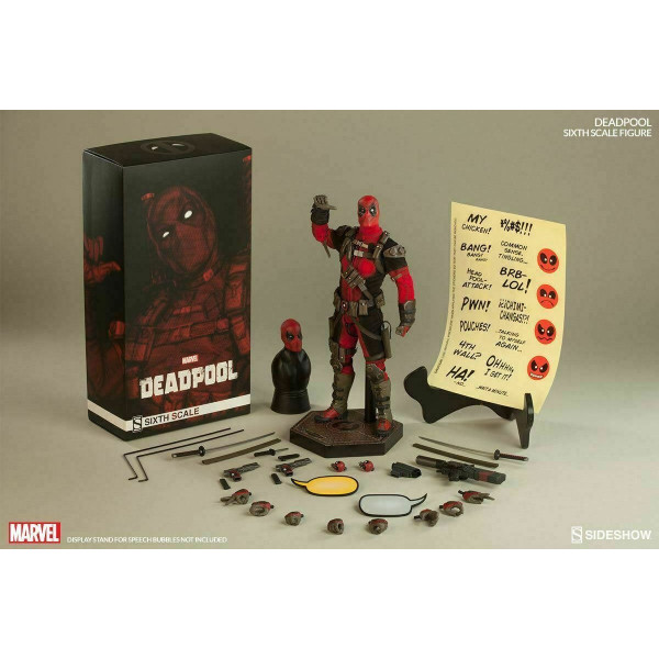 "DEADPOOL SIXTH SCALE FIGURE MARVEL 1/6 Action Doll 12"" Sideshow"
