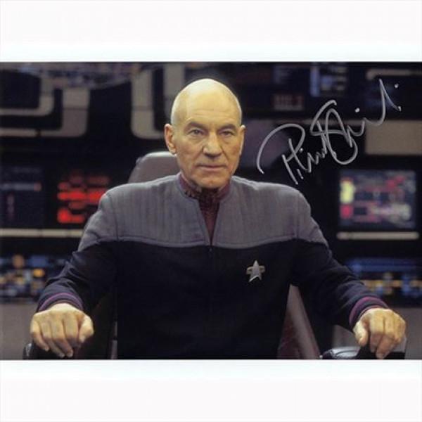 Autografo Patrick Stewart - Star Trek Film 3 Foto 20x25