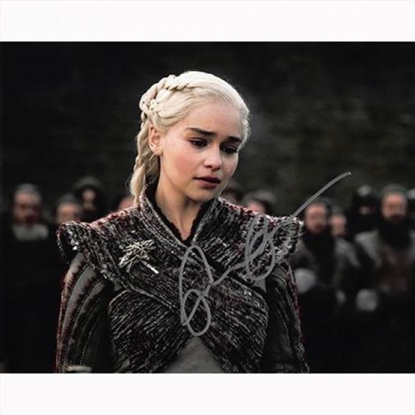 Autografo Emilia Clarke - Game of Thrones 2 - Il Trono di Spade Foto 20x25