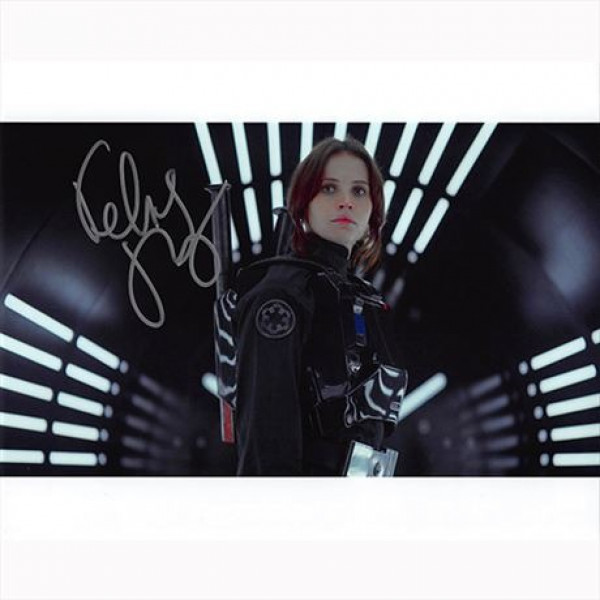 Autografo Felicity Jones - Star Wars Rogue One Foto 20x25