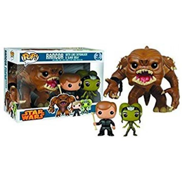 Funko Pop!  Star Wars 3Pack Rancor, Luke Skywalker, Slave Oola