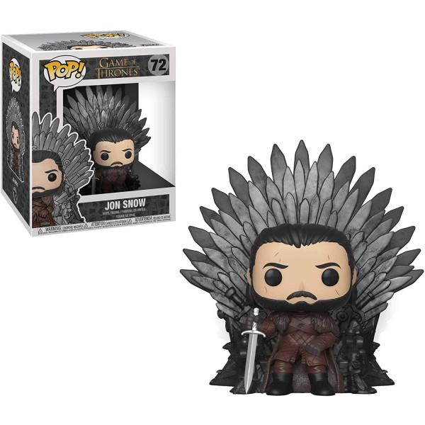 Funko Pop! Deluxe: Game of Thrones S10: Jon Snow Sitting on Iron Throne