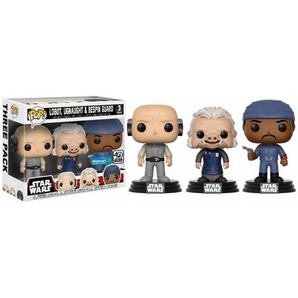Funko Pop! Star Wars-3 Pack Lobot, Ugnaught, Bespin Guard