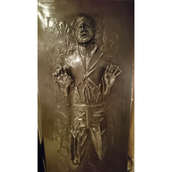 """HAN SOLO IN CARBONITE """"THE THAW"""" PROP STATUE STAR WARS 1/1 LIFESIZE"""