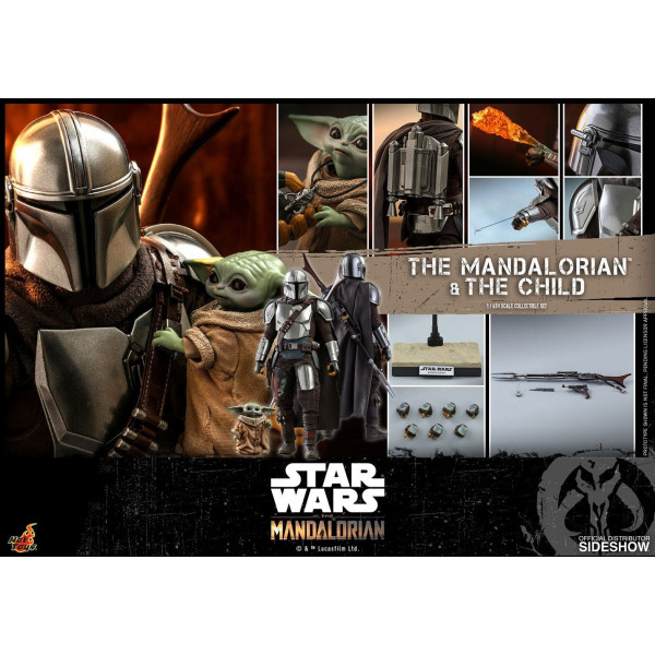 PREORDINE HOT TOYS TMS 14  Star Wars The Mandalorian Action Figure 2-Pack 1/6 The Mandalorian & The Child 30 cm