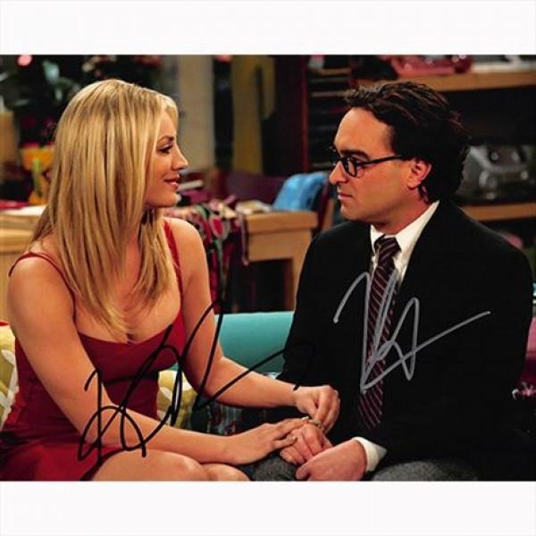Autografo Johnny Galecki e Kaley Cuoco - The Big Bang Theory Foto 20x25