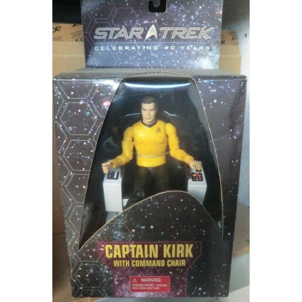 STAR TREK Classic Captain Kirk Captains Chair Art Asylum