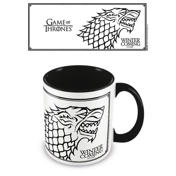 Tazza Game of Thrones (Stark) Nero