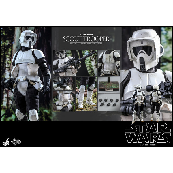 PREORDINE Hot Toys MMS 611 Star Wars : ROTJ – Scout Trooper