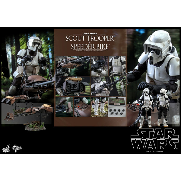 PREORDINE Hot Toys MMS 612 Star Wars : ROTJ – Scout Trooper & Speeder Bike