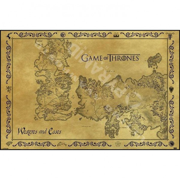 Poster Game of Thrones (Mappa antica)