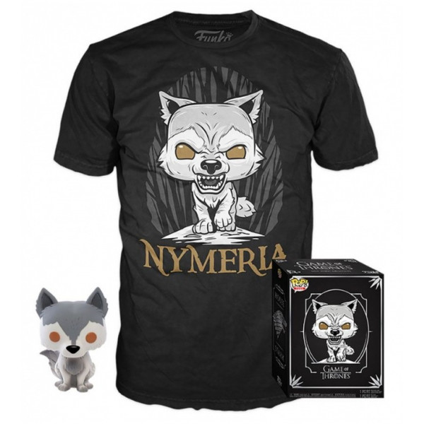 FUNKO POP! Game of Thrones - Nymeria Direwolf Figure + T-Shirt Box