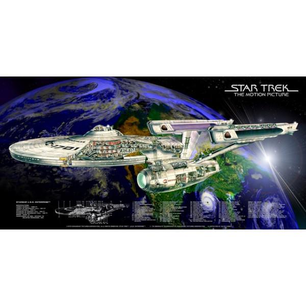 Poster Enterprise NCC 1701 Cutaway Refit