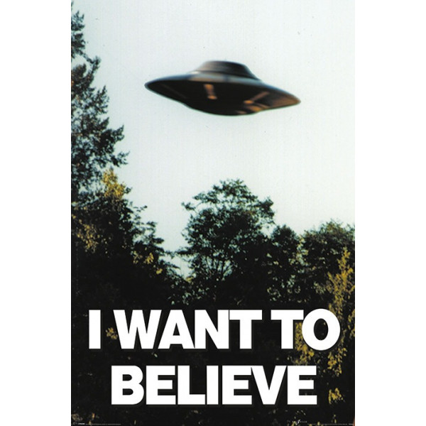 Poster originale I WANT TO BELIEVE
