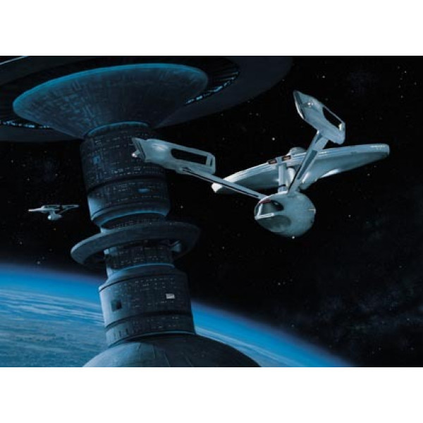 "Litografia ""Return of the Enterprise"" 100 x 66 cm"""