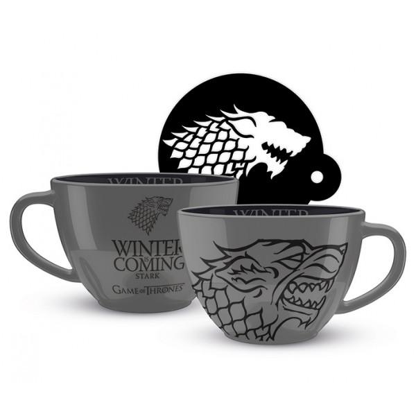 Tazza Cappuccino Game of Thrones (Stark)