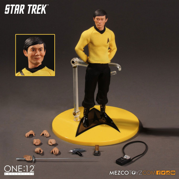Mezco Star Trek Action Figure 1/12 Sulu 15 cm