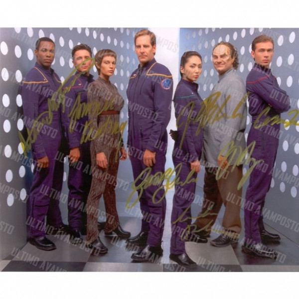 Autografo Cast Completo  Star Trek Enterprise 4 Foto 20x25