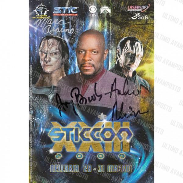 Libro Sticcon XXIII Anno 2009 autografato da Avery Brooks, Marc Alaimo e Andrew Robinson