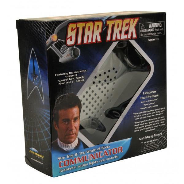 Star Trek II Wrath Of Khan Electronic Communicator Diamond Select Art Asylum MIP