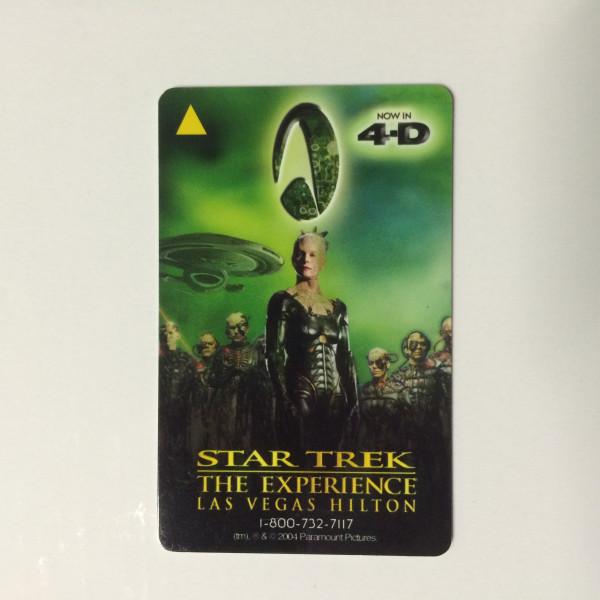 Las Vegas Hilton 2004 Star Trek The Experience Hotel Card Key – Borg 4D