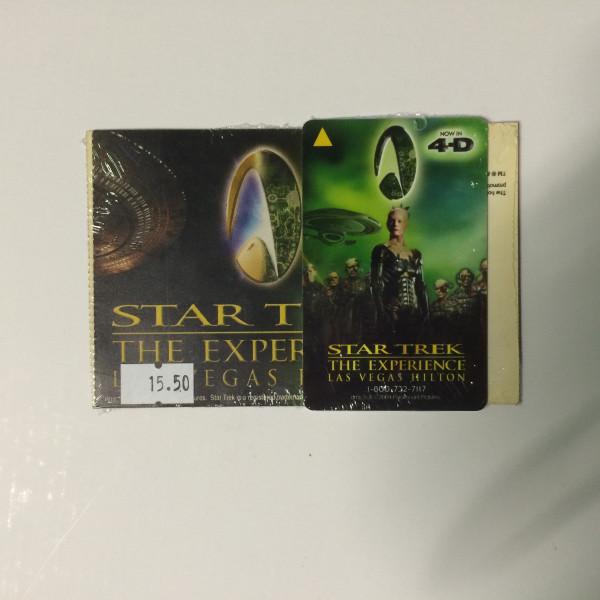 Las Vegas Hilton 2004 Star Trek The Experience Hotel Card Key and Ticket Set – Borg 4D
