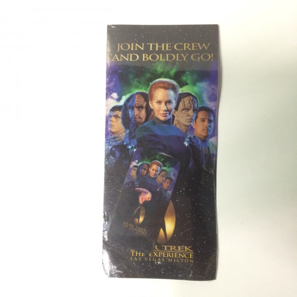 Las Vegas Hilton 1998 Star Trek The Experience Hotel Card Key and Ticket set