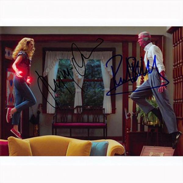 Autografo Elizabeth Olsen & Paul Bettany - WandaVision Foto 20x25